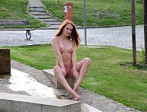 nude in public videos of redhead 8