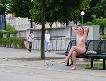 blonde hanka nackt in der Stadt 3