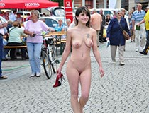 Jeamie at public nude pics